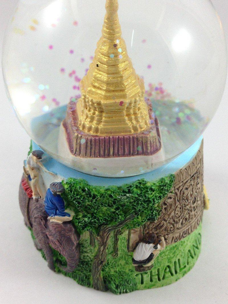 Snow Globe Water Art Glass Paper Weight 3D Resin Thai Souvenir Gift 010