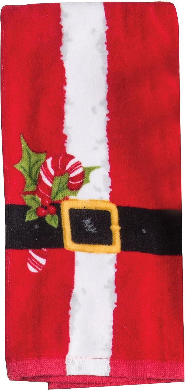 Kay Dee Designs Santa Belt Terry Towel One Size Red