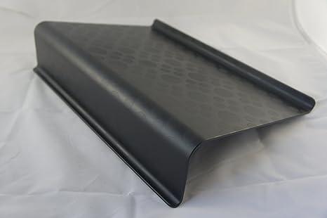 Negro portátil de mesa / escritorio / soporte soporte de escritorio cama sofá bandeja estudio mesa casa trabajo lectura sostiene hasta 17