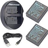 Newmowa BLH-1 互換バッテリー 2個+充電器 対応機種 Olympus BLH-1 Olympus EM1 MARK II,OM-D E-M1X(ハーフデコード)