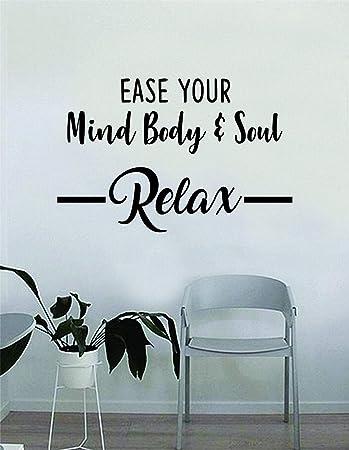 Wandtattoo Mit Zitat Ease Your Mind Body And Oul Vinyl Inspirierende Dekoration Yoga Lustiger Namaste Einfach Anzubringen Und Zu Entfernen Amazon De Baumarkt