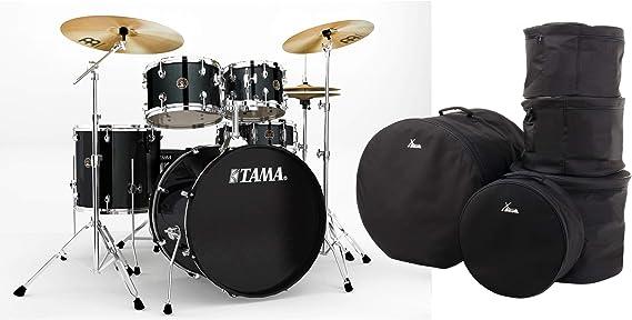 Tama RM52KH6-BK Rhythm Mate - Juego de batería (5 piezas, incluye hardware, máquina de pie y taburete, juego de platillos Meinl, incluye funda), color negro: Amazon.es: Instrumentos musicales