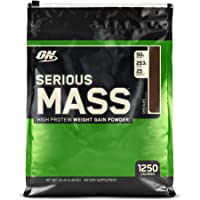 OPTIMUM NUTRITION Serious Mass Weight Gainer Protein Powder, Chocolate, 5.44 kg