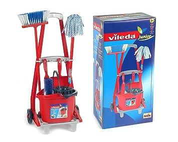 KLEIN 647086 - Vileda Carrito Limpieza Completo 56X24: Amazon.es: Juguetes y juegos