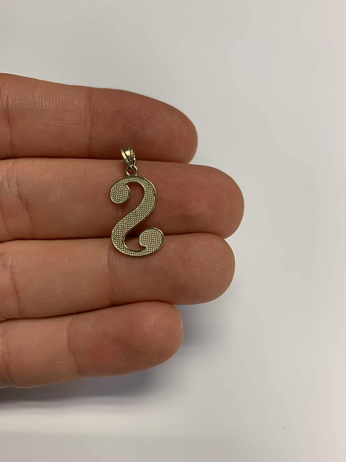 English Alpahbet A-Z Letter Charm with Diamond Cut Ice on Fire Jewelry 10k Solid Real Gold Cursive Initial Pendant