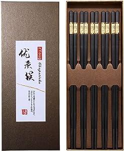 5 Pairs Alloy Chopsticks Series,Non Slip Luxury Reusable Chopsticks Family Use Gift Set, Reusable Chopsticks Dishwasher Safe Household Restaurant