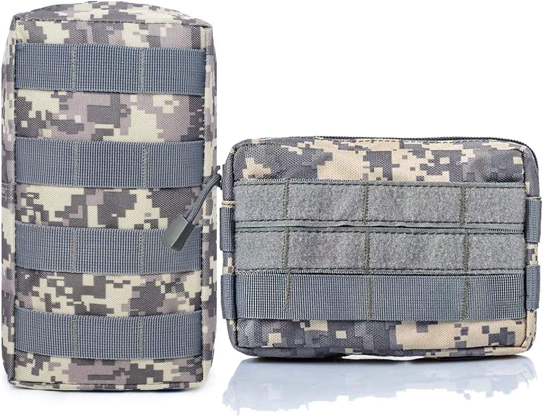 2 Pack Tactical Molle Pouches Attachment Bag Pocket Organizer for Tactical