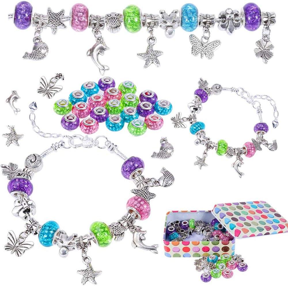 Charm Bracelet DIY Nabance Jewellery Making Kits for Kids Charm Armband DIY for