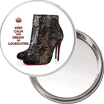 super populaire fd402 30ae9 Keep Calm And Dream of Louboutins Miroir de poche avec une ...