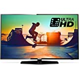 Philips 55PUS6162/05 55-Inch 4K Ultra HD Smart TV with HDR Plus, Freeview Play - Black (2017 Model)