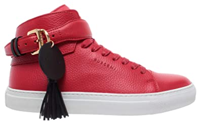 Sneakers Rouge Chaussures Fringe Leather Hommes Buscemi Cuir Calf reCxBdWo