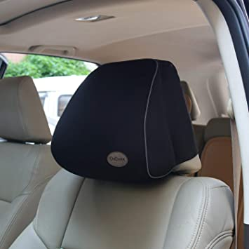Set of 2x White Head Rest Cover Mercedes Car Van Pick-up Two Headrest cover pad