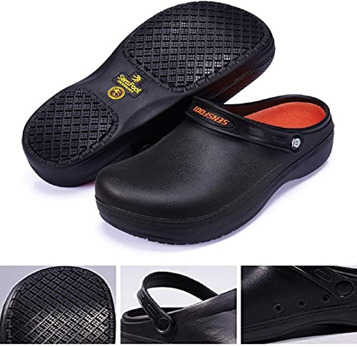 YOWESHOP Kitchen Shoes Black for both Men and Women