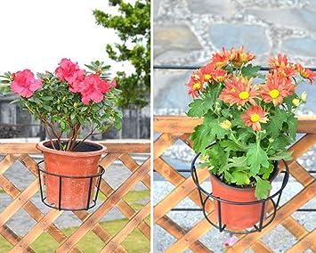 2 X Halterung Fur Blumentopf Easy Fill Schwarz Blumentopfhalter