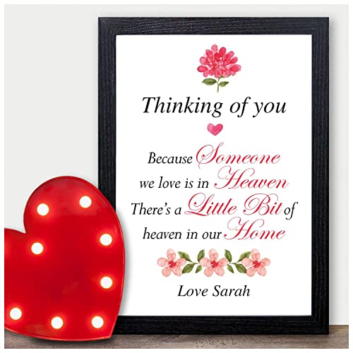 Thinking Of You Because Someone We Love Is In Heaven Handmade