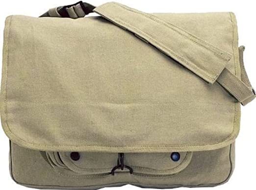 0873cd6cff Image Unavailable. Image not available for. Color  Khaki Vintage Army  Paratrooper Shoulder Bag