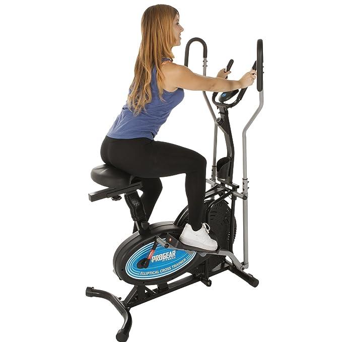 ProGear 400LS 2 Dual Trainer Elliptical & Exercise Bike with Pulse Sensor: Amazon.es: Deportes y aire libre