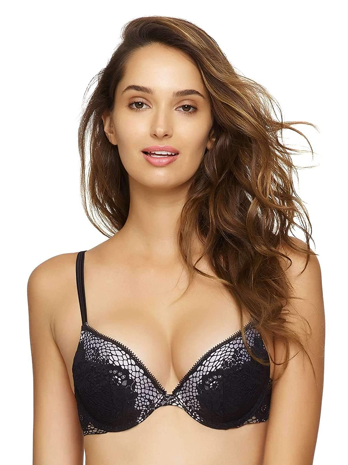 Felina Womens Unveiled Candy Push Up Bra