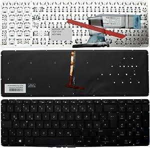 Keyboards4Laptops German Layout Backlit Black Windows 8 Laptop Keyboard for HP Pavilion 15-p218AX, HP Pavilion 15-p218ne, HP Pavilion 15-p218ng, HP Pavilion 15-p218ni, HP Pavilion 15-p218nia