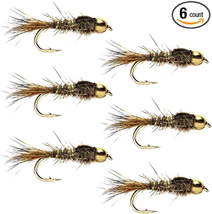 16 available 14 3 X GOLD HEAD BLACK HARE/'S EAR  NYMPH sizes 12