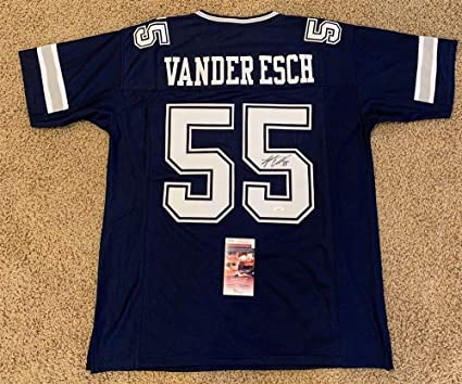 buy online 7f1b3 cd815 Amazon.com: LEIGHTON VANDER ESCH SIGNED AUTO DALLAS COWBOYS ...
