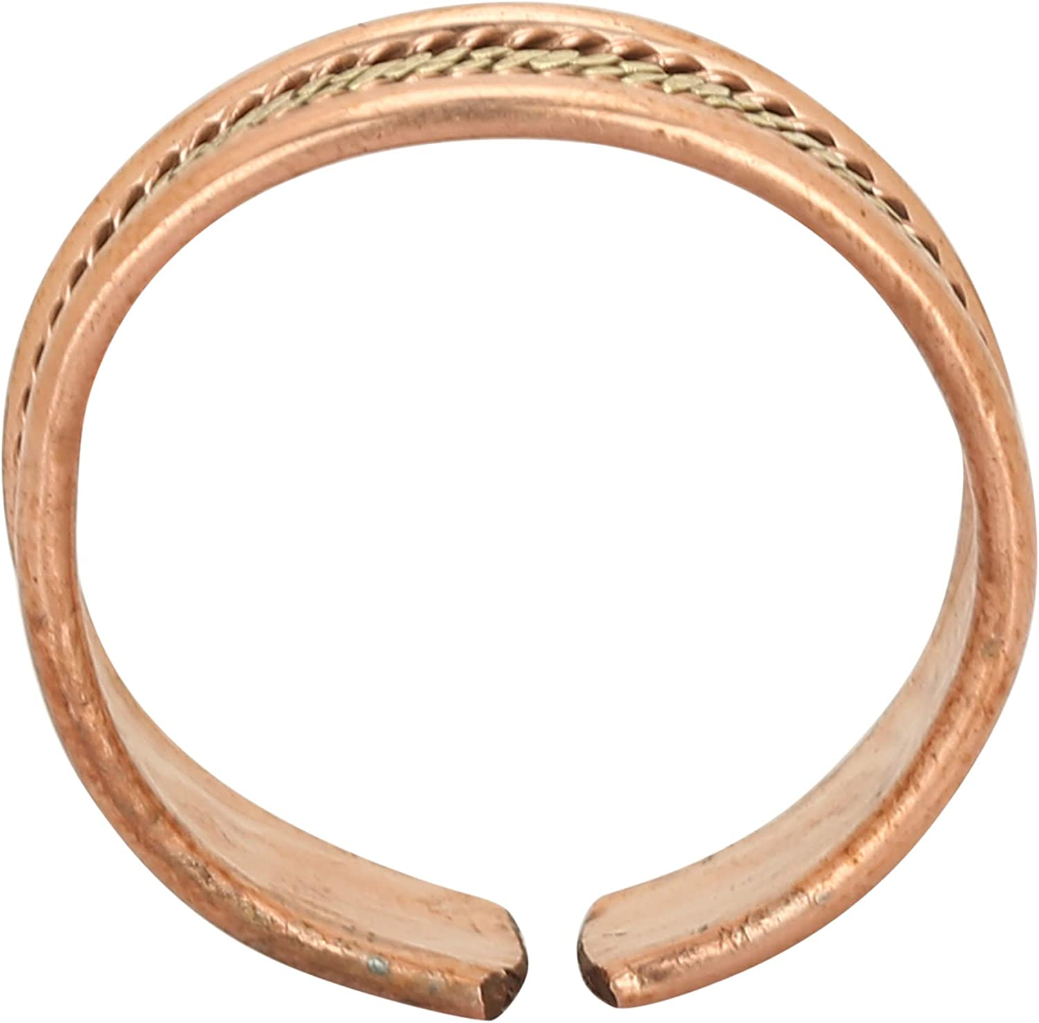 iCraftJewel Pure Copper Thumb Ring Bio Healing Pain Reliever Brown Ring Gift Item for Unisex