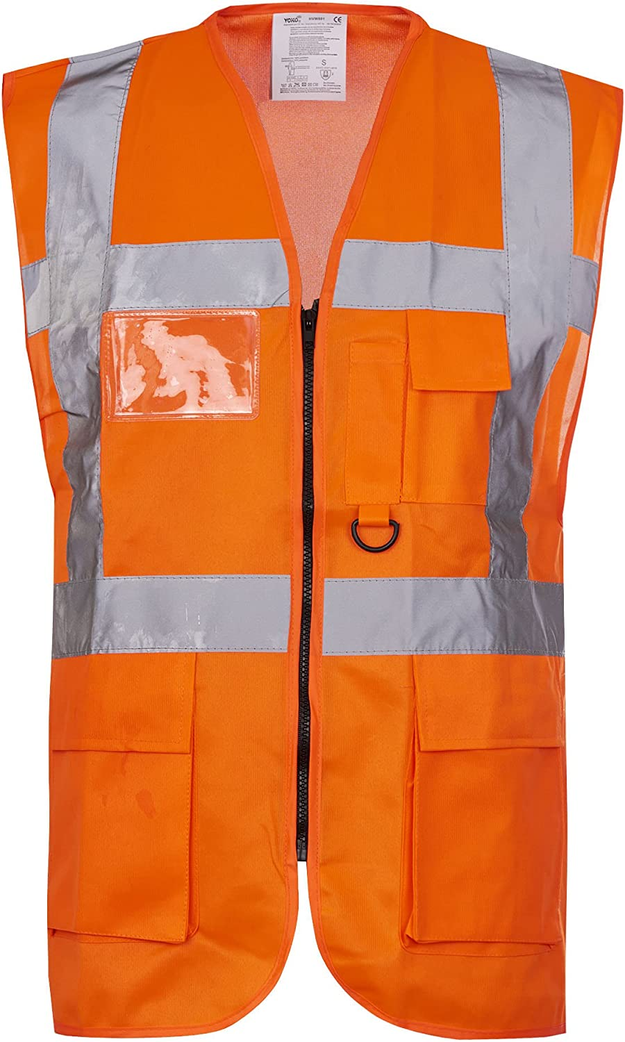 RG Clothing Hivis High Visibility Executive Work Safety Zip Vest Pocket Waistcoat Size S-4XL
