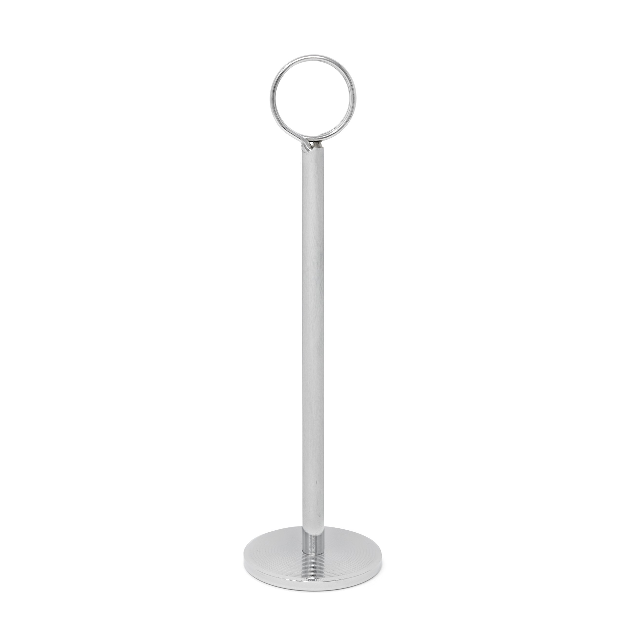 GrayBunny GB-6791C2 Place Card Holder, 8 in Tall, 12 pack, Chrome  Silver, Table Cardholder Tabletop Menu Holder Harp-Clip Number Holder Recipe Holder Reserved Card Holder, For Restaurants, Weddings by Gray Bunny