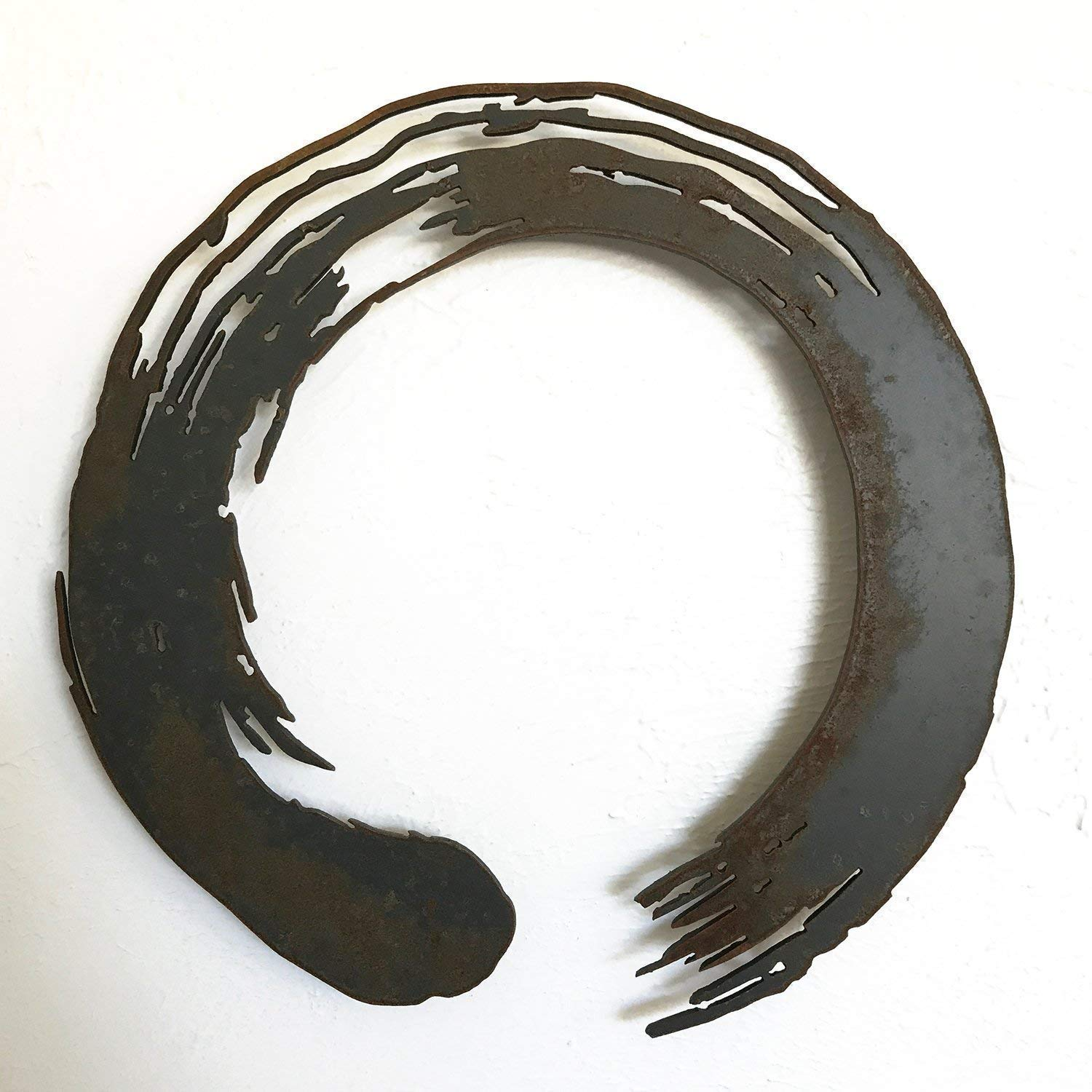 Amazon Com Enso Circle Metal Wall Art Home Decor Choose 12 17 24 Or 30 Wide Choose Your Patina Color And Choose From A Variety Of Zen Yoga And Buddhist Symbols