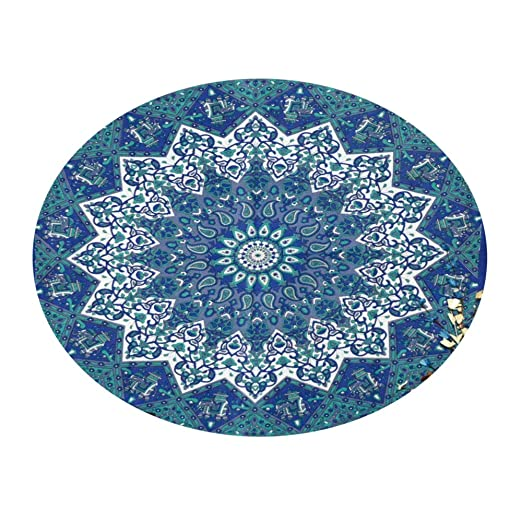 Mandala Round Roundie Beach Indian Blue Star Tapestry Hippy ...