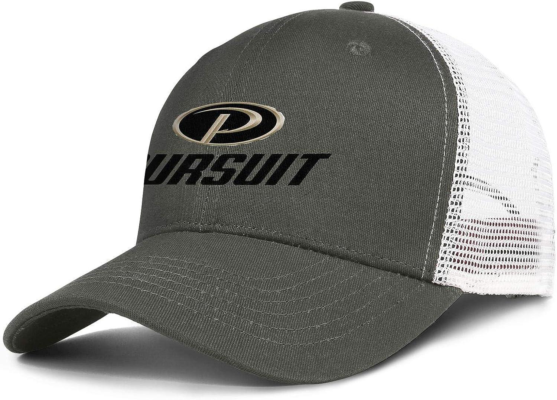 Snapback Mens Womens Adjustable Rock Cap Trucker Mesh Hat Pursuit-Logo