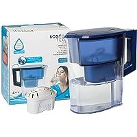Boston Tech Iris, Pichet à Eau filtrée Compatible avec Les filtres Brita Maxtra 2 litres