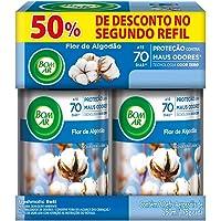 Aromatizador Bom Ar Spray Automático Freshmatic com Refil Flor de Algodão, Air Wick, Azul, pacote de 2 Refis