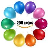 風船- 200個、さまざまな色12インチのゴム風船は誕生日/パーティー/クリスマス/結婚式と祝日に適用されます