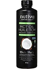 Nutiva Organic MCT Oil with Caprylic and Capric Acids from Non-GMO, USDA Certified Organic Fresh Coconuts, 473 Ml