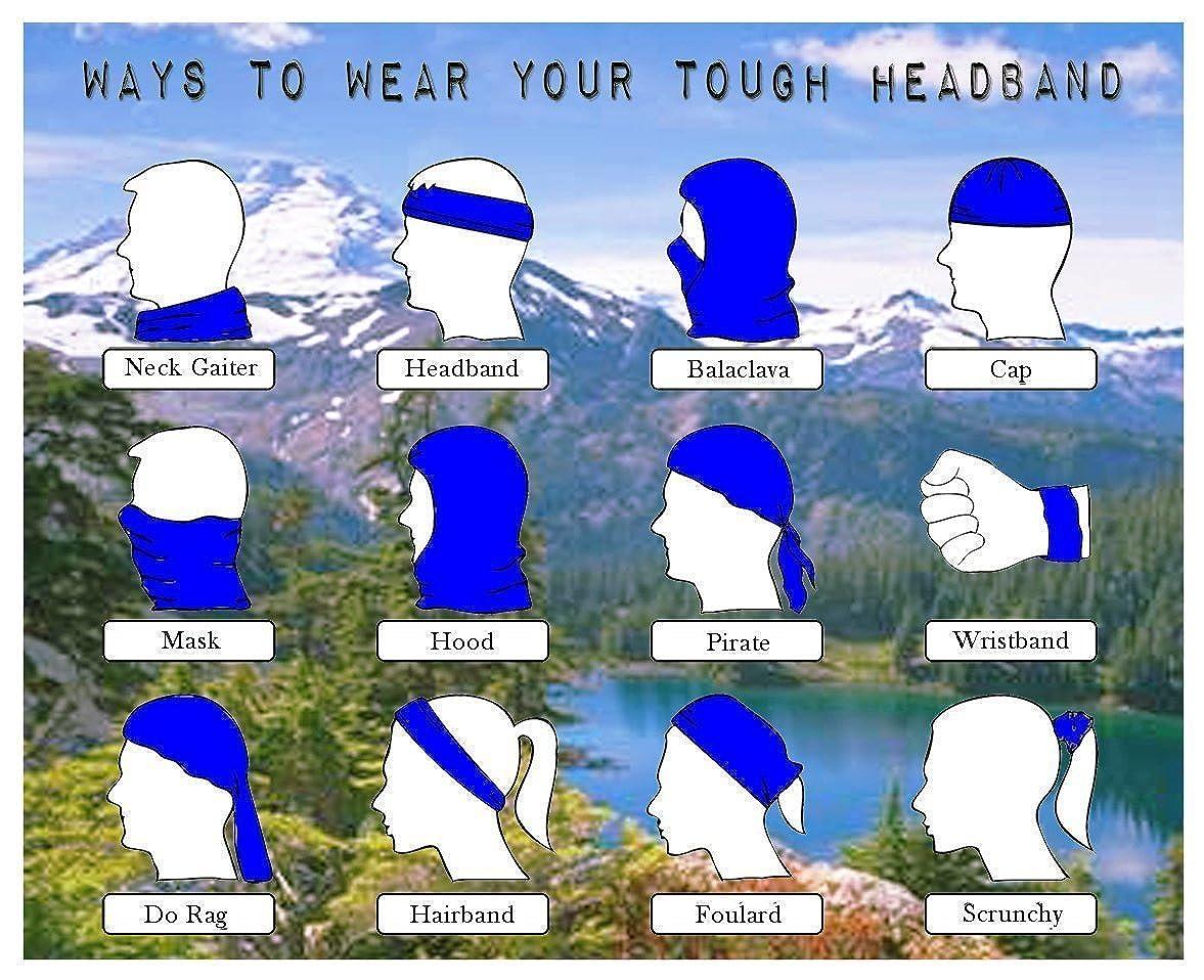 Multifunctional Headwear Ice Cream and Hearts Head Wrap Elastic Turban Sport Headband Outdoor Sweatband