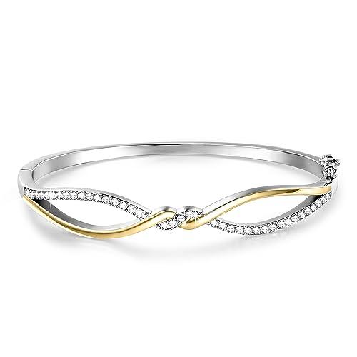 ❤ Regalos para Mujer ❤ charms pulsera de 7 pulgadas 18 K ...