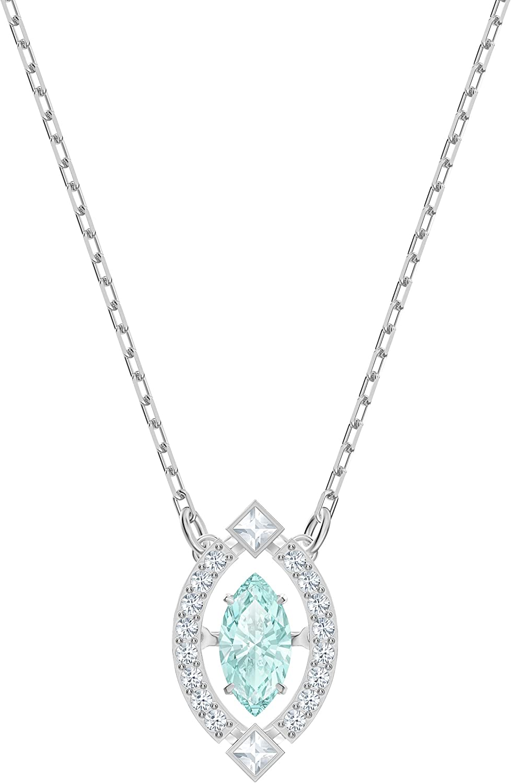 Swarovski Collar Sparkling Dance de Mujer, con rodio Plateado, Cristal, Verde