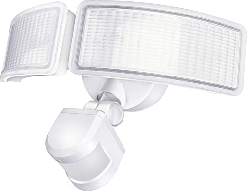 LITOM Solar Lights Outdoor, IP67 Waterproof Solar Powered Motion Sensor Lights 60 LEDs Wireless Solar Security Wall Lights for Front Door, Garden, Patio, Yard, Garage, Deck, Driveway 4 Pack Cold White