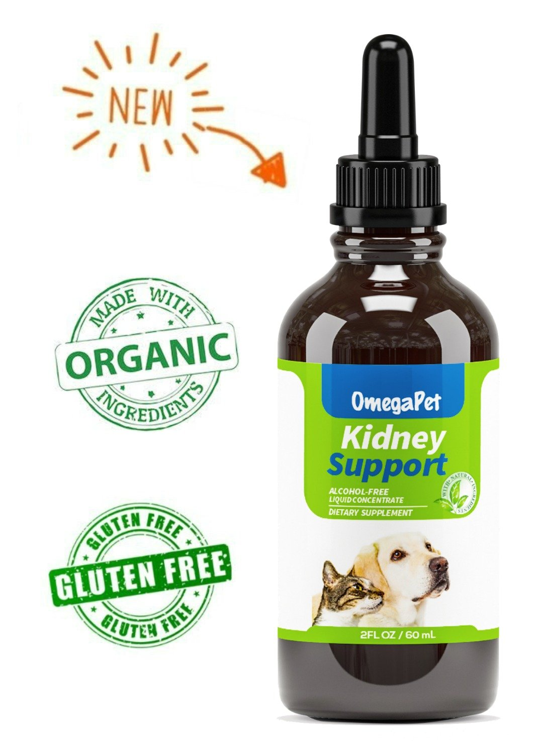 OmegaPet Dog Kidney Support, Kidney Support for Cats and Dogs, Bladder Support for Dogs, Best Natural Pet Kidney Care for Improved Appetite and Energy