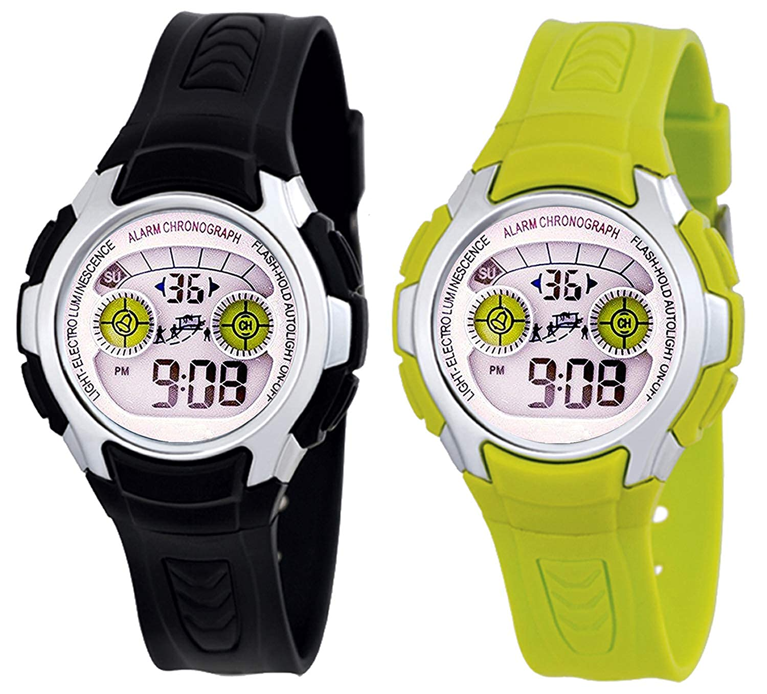 Time Up Combo of Digital Girl and Boy watch