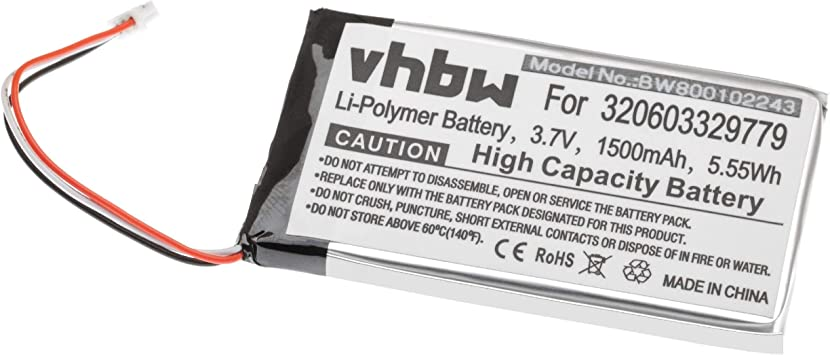 Vhbw Li Polymer Akku 1500mah Für Navigation Gps Elektronik