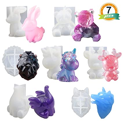 Amazon.com: 4 tipos de moldes de resina.: Arte, Manualidades ...