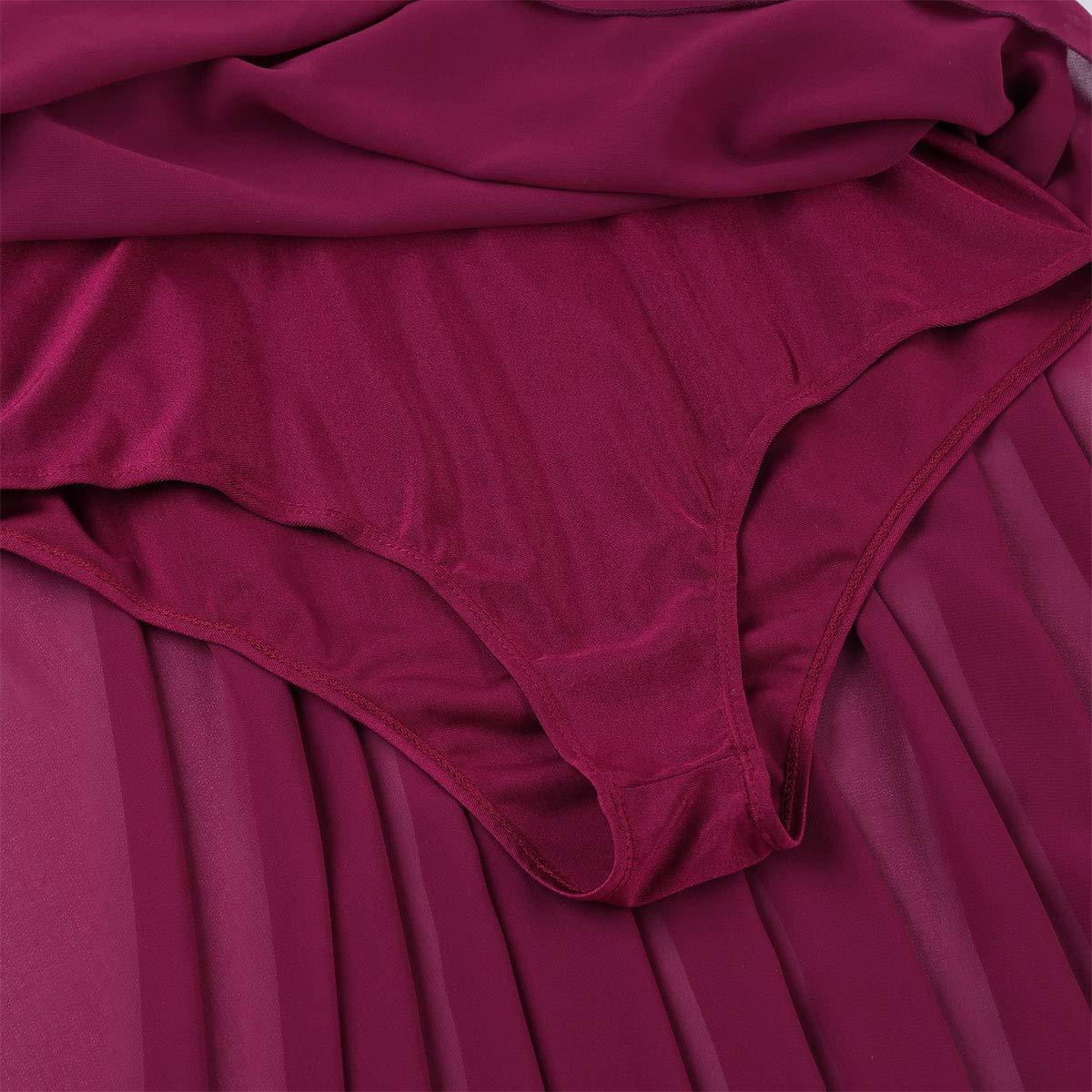 YiZYiF Femme Robe Danse Justaucorps Ballet Latin Gymnastique Asym/étrique Robe /à Paillettes Robe Soir/ée Bal Gala Body Combinaison Danseuse Costume Performance XS-XL