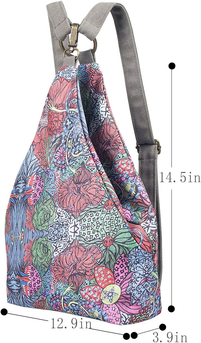 Black Butterfly Original Womens Bohemia National Style Canvas Backpack Shoulder Bag Girls Daypack small a plus