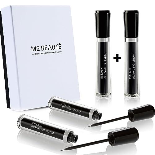 M2Lashes Eyelash Activating Serum 6-months Eyelash Growth Treatment 2x5ml & M2Beaute Gift Box