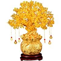 BESPORTBLE Feng Shui Chakra Crystal Money Tree Bonsai Chinese Fortune Tree with Lucky Coins for Wealth Luck Home…