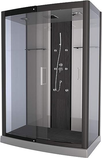 Aurlane CAB078 - Cabina de ducha, color gris y transparente ...