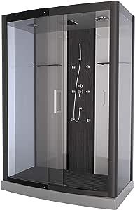Aurlane CAB078 - Cabina de ducha, color gris y transparente: Amazon.es: Bricolaje y herramientas