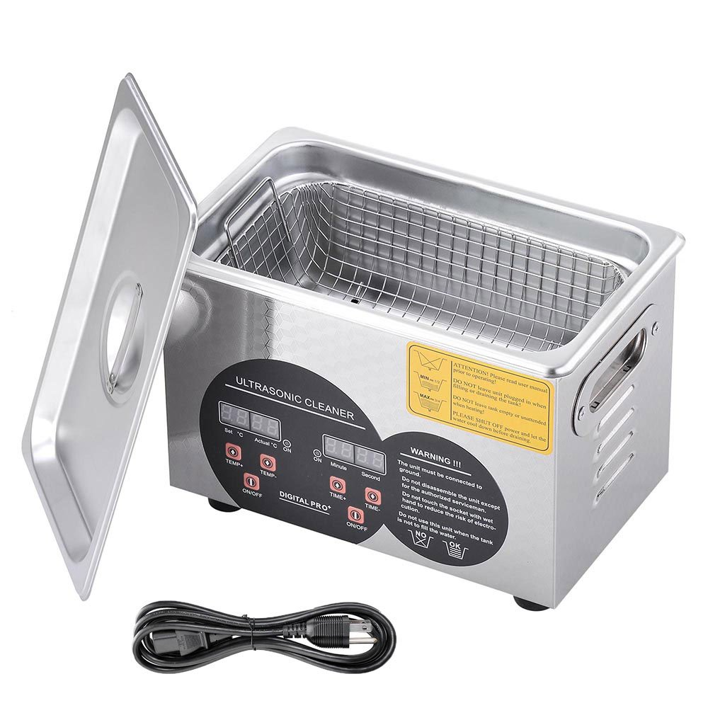 AW 3L Stainless Steel Ultrasonic Cleaner w/Heater Timer Basket Part Jewelry Lab Bullet Gun Home